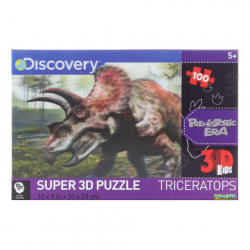 3D Puzzle Triceratops 100 dielikov