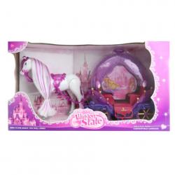 Kočár pro panenky fialový