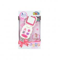 Baby telefón ružový na batérie