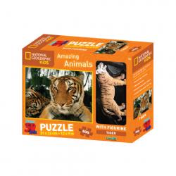 3D Puzzle Tiger 100 dielikov figúrka