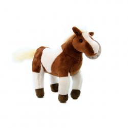 Plyš Kůň hnědobílý