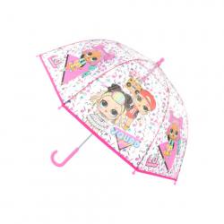 Deštník L.O.L. průhledný manuální
