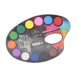 Maľovacie paleta s akvarelovými vodovkami 12 ks