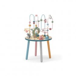Drewniany stół do gry z labiryntem