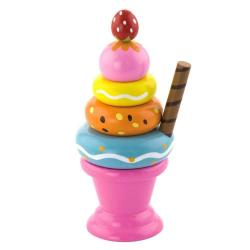 Dřevěný zmrzlinový pohár