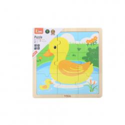 Drevené puzzle - kačička