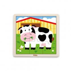 Puzzle drewniane - krowa