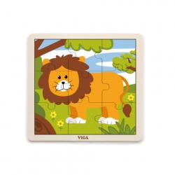 Puzzle drewniane - lew