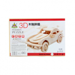 Puzzle drevené 3D Auto
