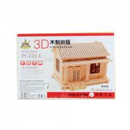Puzzle drevené 3D Domček