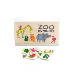 Drewniane zoo domino