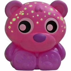 Playgro - usínacej lampička medvedík s projektorom-ružový