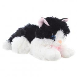 Plyš Kočka černo-bílá 30 cm