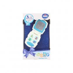 Baby telefón modrý na batérie