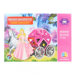Magnetická stavebnica 29 ks kočiar pre bábiky