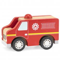 Dřevěné hasičské auto