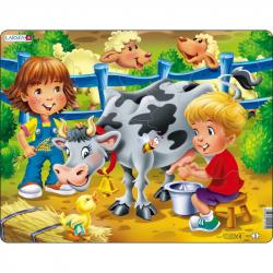Puzzle doja kravičku 18 dielikov