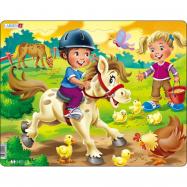 Puzzle Jezdíme na koni 16 dílků