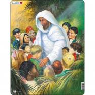 Puzzle Bible - Ježíš s dětmi 32 dílků