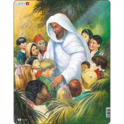 Puzzle Biblie - Ježiš s deťmi 32 dielikov