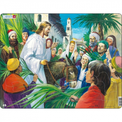 Puzzle Biblie - Ježiš - príchod do Jeruzalema 33 dielikov