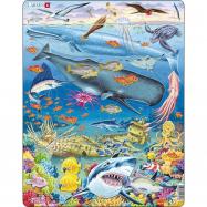 Puzzle Velryba,žralok a Titanik 65 dílků
