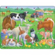 Puzzle Domácí mazlíčci a farma 15 dílků
