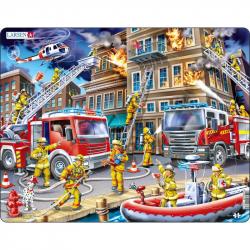 Puzzle Hasiči - požiar domu 45 dielikov