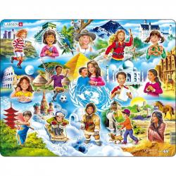 Puzzle Deti vo svete 15 dielikov