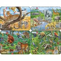 Puzzle Exotické zvieratá 11 dielikov