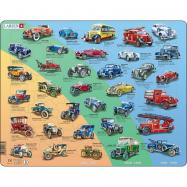 Puzzle Historická auta - veteráni 42 dílků