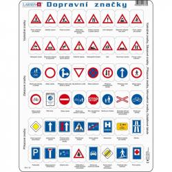 Puzzle Dopravné značky 48 dielikov
