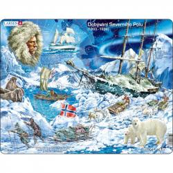 Puzzle Dobývanie Severného pólu 65 dielikov