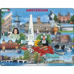Puzzle Amsterdam - zaujímavosti 70 dielikov