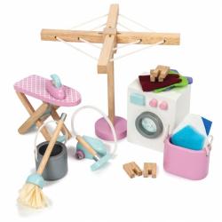 Drewniane mebelki do domku dla lalek - pralnia, Le Toy Van