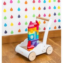 Le Toy Van päťročné - Vozík s dúhovými kockami