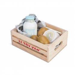 Drewniane produkty mleczne w skrzynce, LE TOY VAN