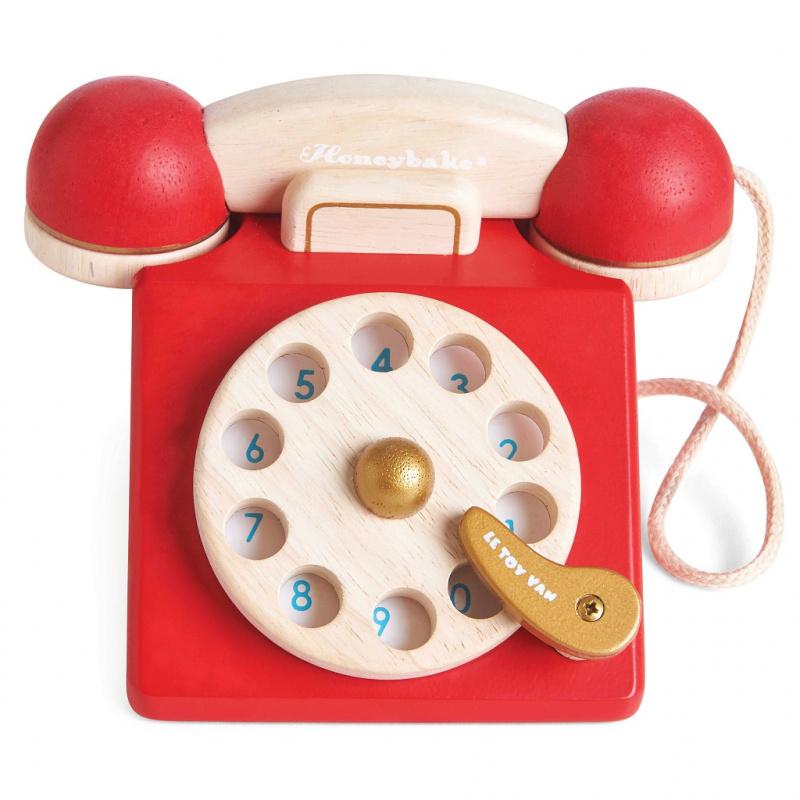 Le Toy Van drewniany telefon w stylu vintage