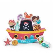 Drewniany balansujący Statek piracki dla Najmłodszych, Le Toy Van