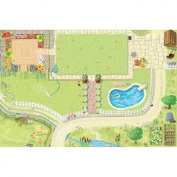 Le Toy Van hrací koberec PLAYMAT záhradka 80x120cm