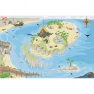 Le Toy Van hrací koberec PLAYMAT pirátsky ostrov 80x120cm