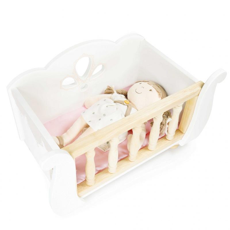 Le Toy Van Dřevěná postýlka Sleigh