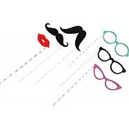 Small Foot Dřevěné rekvizity k focení  brýle, vousy a pusa