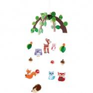 Závěsný kolotoč - Lesní zvířátka