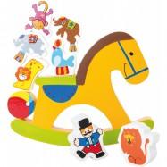 Drevená motorická hra - Koník cirkus