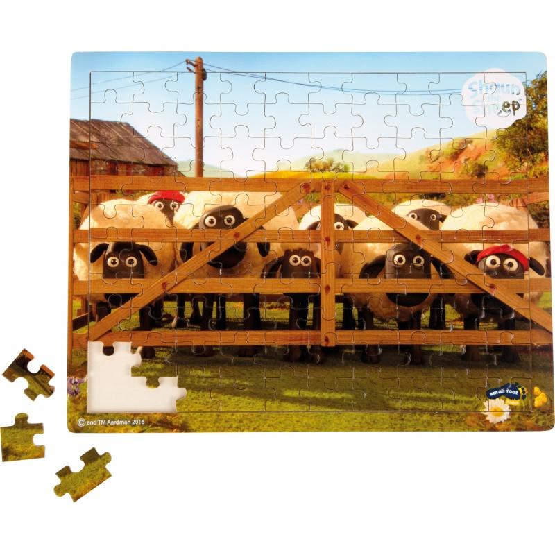 Dřevěné puzzle ovečka Shaun 100 dílků