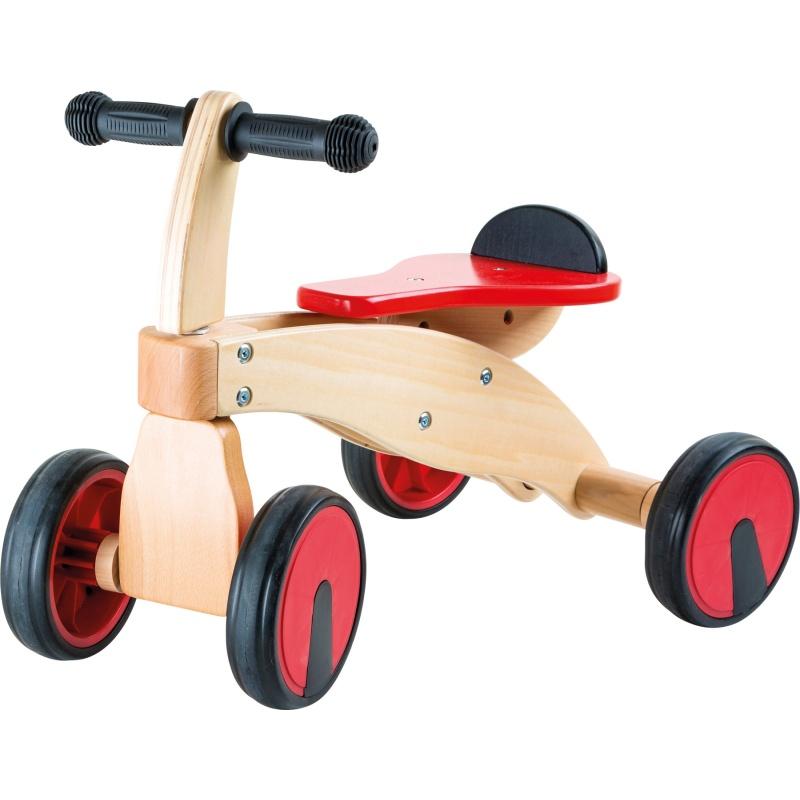 Dřevěné odrážedlo Červený závodník