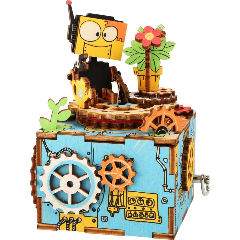 Dřevěná stavebnice muzikální dekorace - Robot