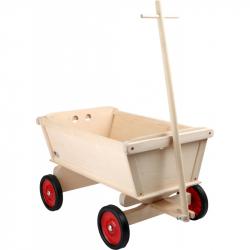 Drevené hračky - Drevený ťahacie vozík pre deti