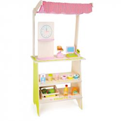 Dřevěná hračka - Dětský dřevěný prodejní stánek Květina
